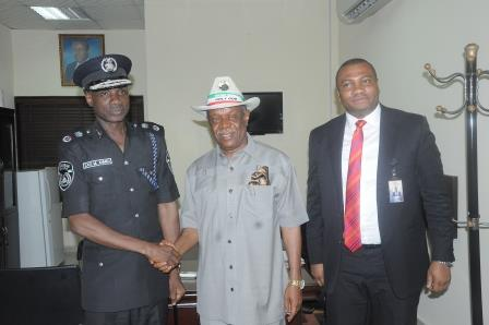 Chairman Board of the Airport and the MD/CEO welcoming the State CP to the airport