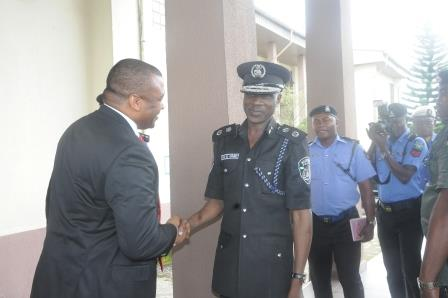 MD Mr. Uwem Ekanem welcoming the CP on a facility tour